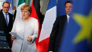 Merkel, Hollande i Renzi han consensuat la resposta al Brexit en una reunió a Berlín (Reuters)