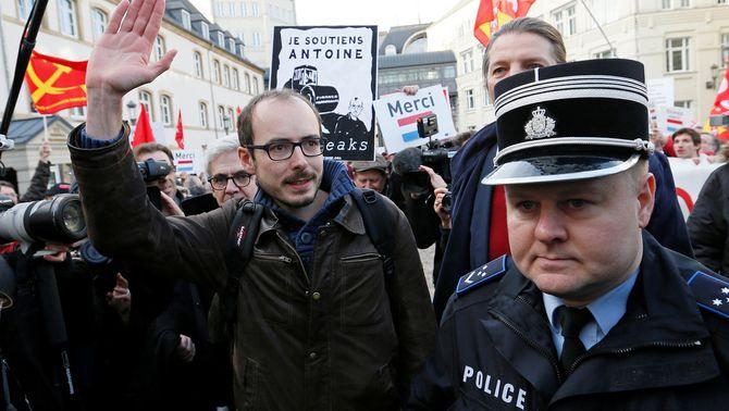 L'extreballador de PWC Antoine Deltour, el desembre del 2016 a Luxemburg durant el judici contra ell per la filtració LuxLeaks (Reuters)