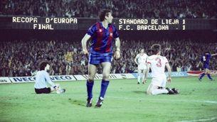 Quini va marcar una època a Can Barça