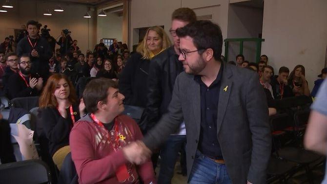 Pere Aragonès al Congrés Nacional de les JERC