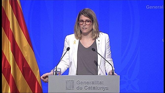 Elsa Artadi, portaveu del govern català i consellera de la Presidència
