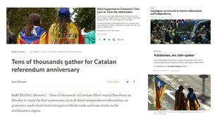 Un any després de l'1-O, la premsa internacional ha tornat a mirar cap a Catalunya