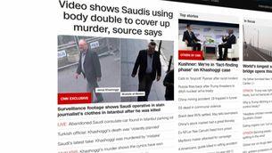 La CNN ha difós imatges del doble de Khashoggi sortint del consolat (CNN)
