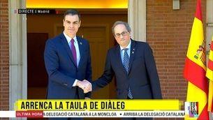 Arrenca la taula de diàleg: arriba la delegació catalana