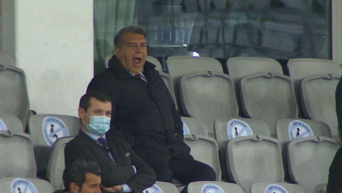 Així ha viscut el Chelsea-Barça Joan Laporta