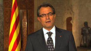 Missatge institucional del president Mas (íntegre)