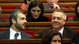 Navarro i Lucena durant el debat al Parlament. (Foto: ACN)