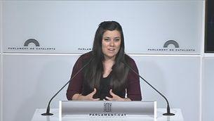 """Isabel Vallet (CUP): """"No reconeixem la decisió del TC"""""""