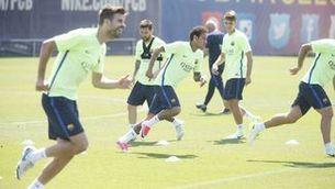 El Barça s'entrena abans de la Copa