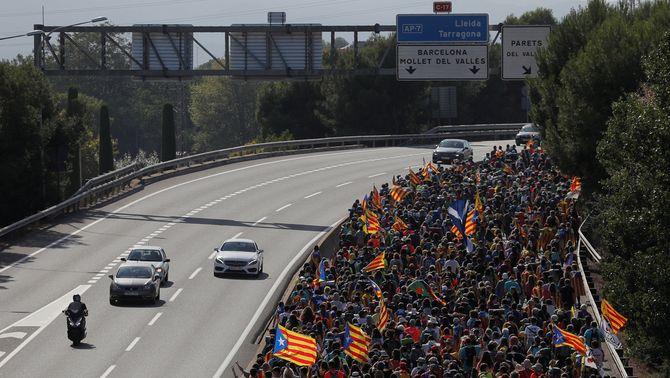 Les Marxes per la Llibertat comencen a trobar-se abans d'enfilar cap a Barcelona