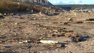 Un any després, a la desembocadura del Ter encara no s'ha fet net del temporal Gloria