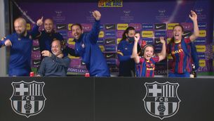 Eufòria desbordada del Barça femení