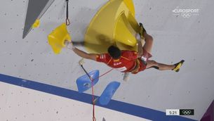 Alberto Ginés, primer campió olímpic en escalada