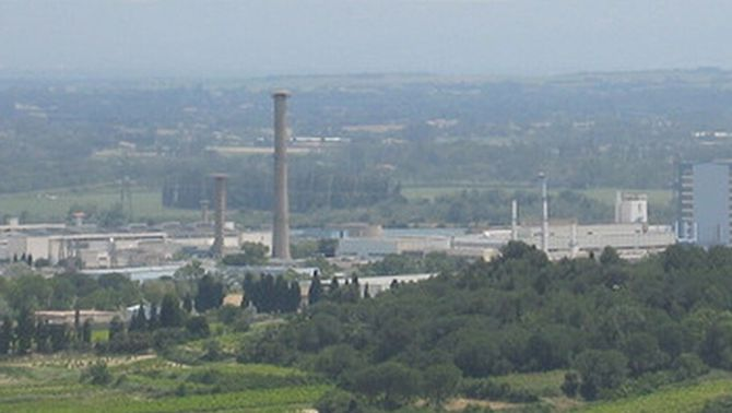 Planta nuclear de Marcoule, on hi ha hagut l'explosió.