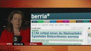 ETA, disposada a col·laborar amb la comissió que verifica l'alto el foc