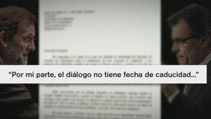 La carta de Rajoy a Mas