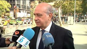 """El ministre de l'Interior afirma que la justícia està fent la seva feina i critica """"el victimisme"""", en al·lusió a les declaracions d'Artur Mas, que diu que tant ell com CDC """"són objecte de caça major"""""""