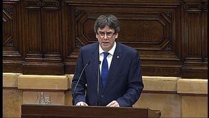 """Puigdemont a la CUP: """"Han decebut l'esperança de milions de persones"""""""
