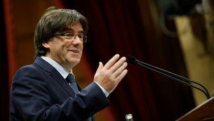 Carles Puigdemont durant el debat de la qüestió de confiança