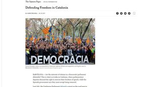 """L'article de Forcadell a """"The New York Times"""""""