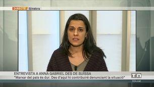"""Anna Gabriel: """"Volem posar en evidència que se'ns persegueix per decisions polítiques"""""""