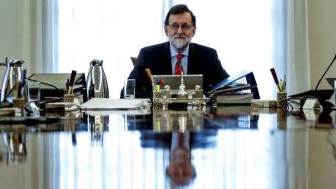 Mariano Rajoy durant l'últim Consell de Ministres (EFE)