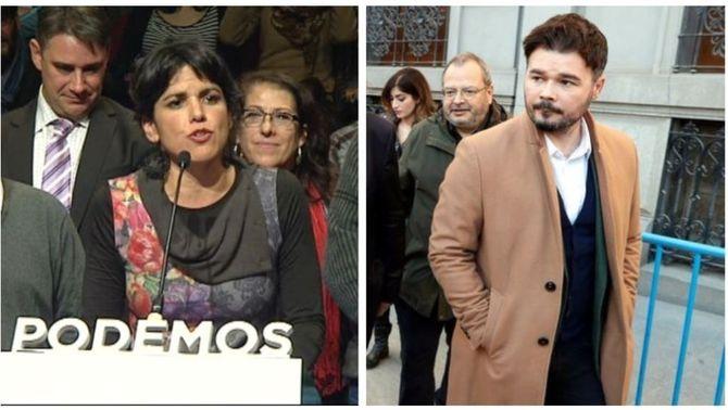 Rufián i Teresa Rodríguez, a judici per uns tuits sobre Puig Antich i Utrera Molina