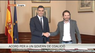 PSOE i Podem signen un acord per a un govern de coalició