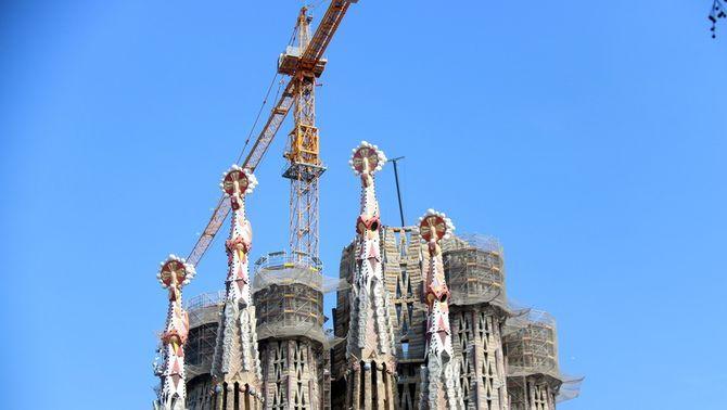 Les obres de la Sagrada Família, aturades fins a finals d'any per la caiguda d'ingressos