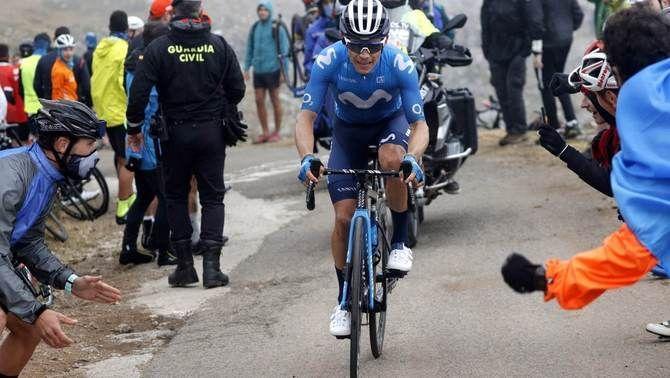 Miguel Ángel López, durant La Vuelta 2021