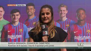 Barça-Granada, nou examen per a Koeman