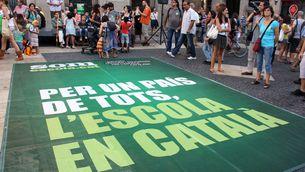 Manifestació de Som Escola a Tortosa, en una imatge d'arxiu.