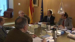 La Junta Electoral Central, en una reunió a Madrid, amb el seu president, Carlos Granados, al cap de taula