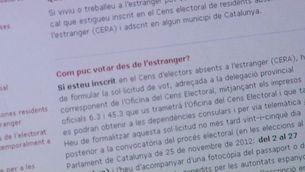El termini per votar expira el 22 de setembre per a les persones inscrites al CERA i el dia 23 per als temporalment absents