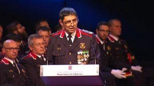 El comissari en cap Trapero durant el seu discurs en el Dia de les Esquadres