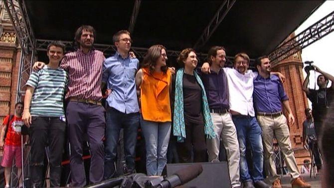 Units Podem s'aboca a Catalunya amb un cartell únic amb tots els líders i l'aposta pel dret a decidir