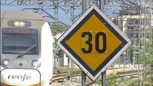 Molts senyals de límit de velocitat delaten els punts on hi ha incidències pendents de resoldre