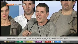 Arnaldo Otegi, líder de EHBildu , queden en segon lloc
