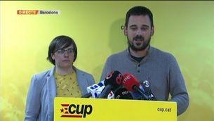 La CUP decidirà dijous a les 3 de la tarda si dona suport a Turull