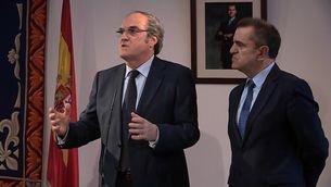 Ángel Gabilondo i José Manuel Franco, aquest dimecres a l'Assemblea de Madrid