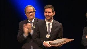 Leo Messi, la gran atracció del lliurament de les Creus de Sant Jordi