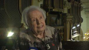 L'organista Montserrat Torrent fa 95 anys i parla amb passió de la seva música
