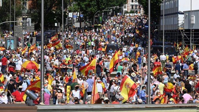 La manifestació en contra dels indults, diumenge 13 a la plaça Colón de Madrid