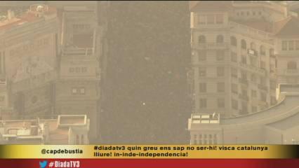 Vista aèria de la manifestació