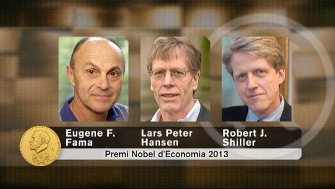 Fama, Hansen i Schiller, experts en prediccions macroeconòmiques.