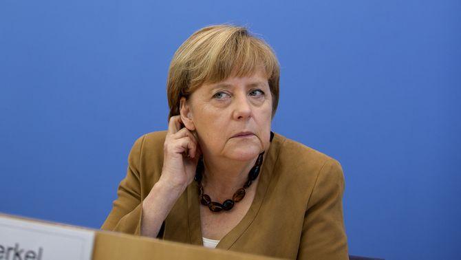 Angela Merkel, durant la roda de premsa. (Foto: Reuters)