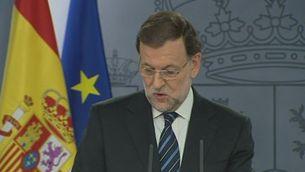 """Rajoy rebutja la """"imposició"""" d'un referèndum (compareixença íntegra)"""