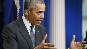 Obama en la compareixença d'aquest dimarts en la Casa Blanca (Reuters)