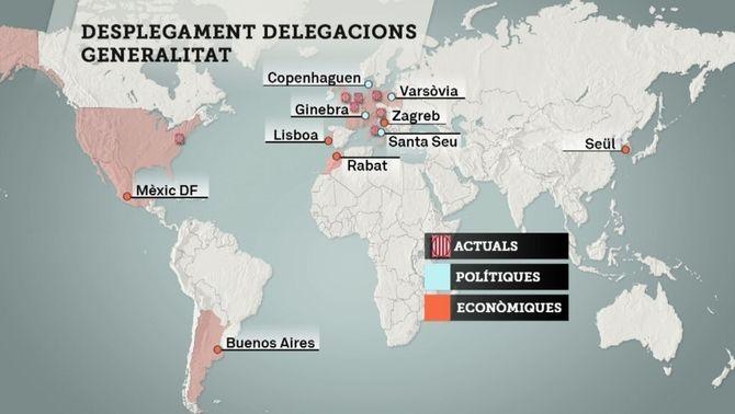 El govern pressiona la CUP i supedita als pressupostos les noves delegacions a l'exterior