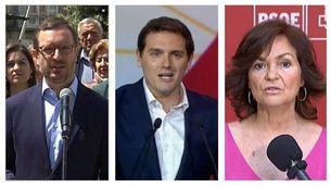 PP, Cs i PSOE responsabilitzen Quim Torra del manteniment del 155